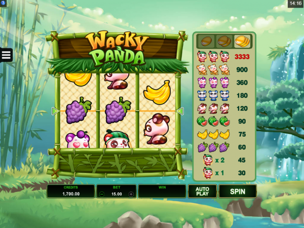 wacky panda - สล็อต3แถว