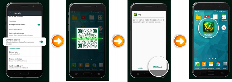 ระบบ Android - v9bet app