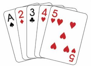 straight - พื้นฐาน Poker