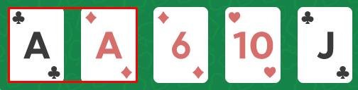 one pair - มือใหม่ Poker